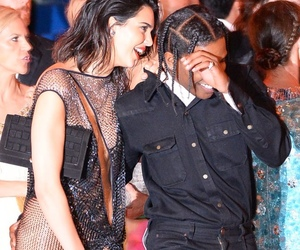 kendall jenner, asap rocky, and met gala 2017 image