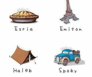 haleb, pll, and ezria image