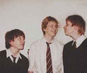 harry potter, fred weasley, and ron weasley image