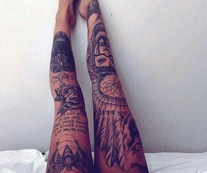 tattoo and black image