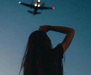 girl, love, and airplane image