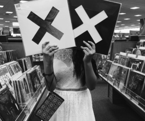 black and white, music, and records image