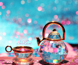 tea, blue, and pink image
