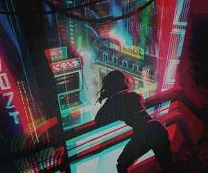 anime, art, and cyberpunk image