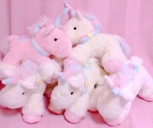 unicorn, pink, and kawaii image