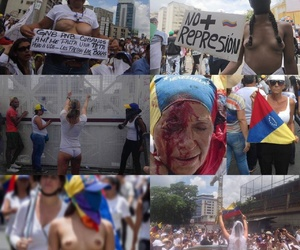 girl power, venezuela, and resistencia image