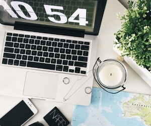 map, candle, and nars image