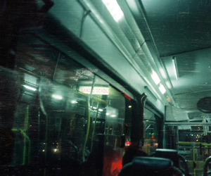 black, bus, and bus stop image