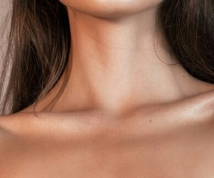 girl, neck, and hair image