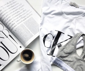 Calvin Klein, coffee, and white image