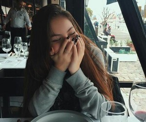 girls, restaurant, and cute image