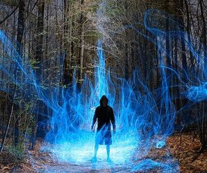 blue, magic, and man image