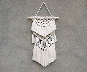 bedroom decor, bedroom wall decor, and macrame wall hanging image