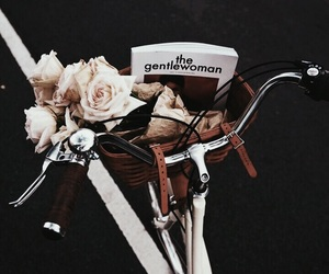bike, flowers, and magazine image