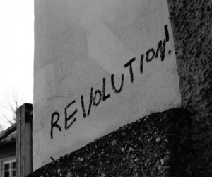 black and white, revolution, and street image