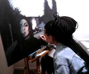 art, artist, and braids image