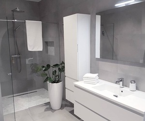 bathroom, white, and gray image