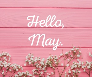 flowers, may, and pink image