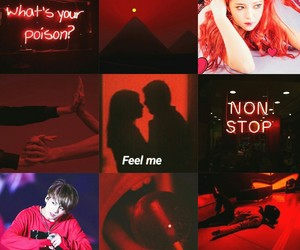 moodboard, red, and bts image