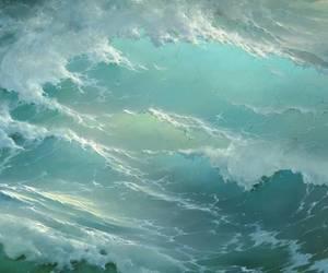 ocean, sea, and art image