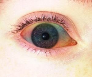 blue, eyes, and rainbow eyes image