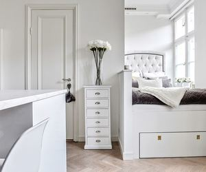 decor, white interior, and bedroom inspiration image
