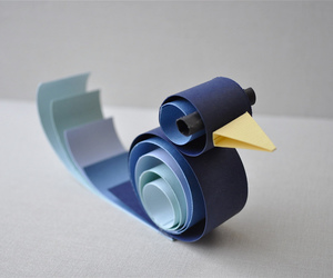 blue, Paper, and quilling image
