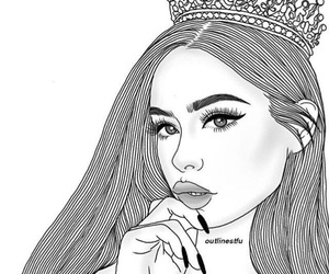 Queen, outline, and tumblr image