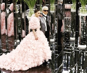 bride, chanel, and dress image