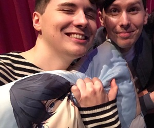 dan and phil, phil lester, and daniel howell image