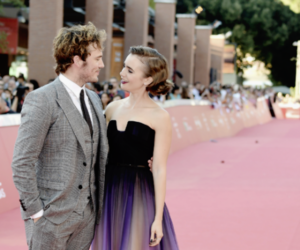 lily collins, sam claflin, and couple image