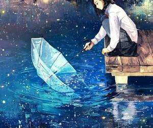 anime, art, and umbrella image