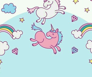unicorn, kawaii, and wallpaper image