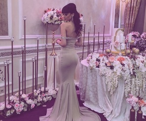 engagement, evening dress, and love image