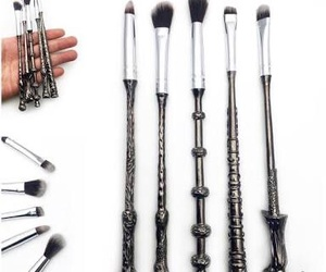 Brushes, harry potter, and makeup image