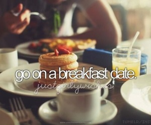 breakfast, date, and food image