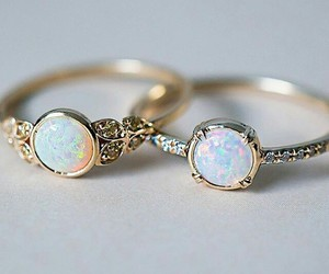 silver, blue, and rings image