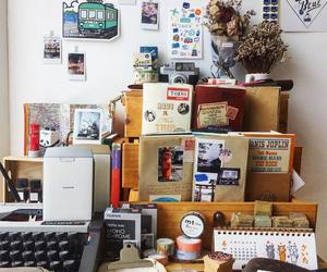 creative, decoration, and desk image
