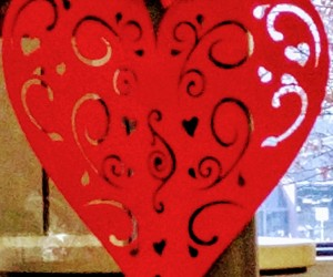 paper hearts, valentines, and holiday decor image