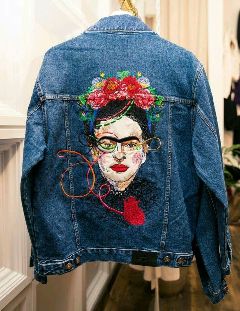 art, fashion, and embroidery image
