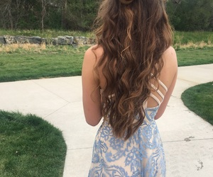 hair, Prom, and prom hair image