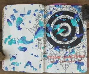 mandala, wreck this journal ideas, and wtj ideas image