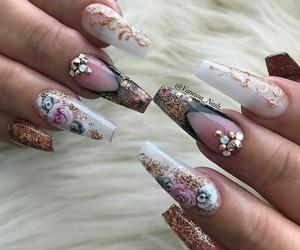 beautiful, glam, and long nails image