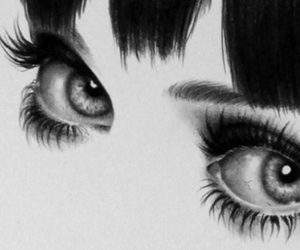 eyes, black and white, and katy perry image