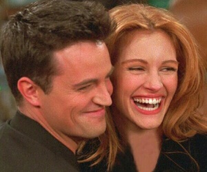 friends, julia roberts, and chandler bing image