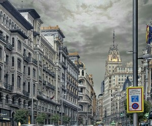 madrid, rain, and street image