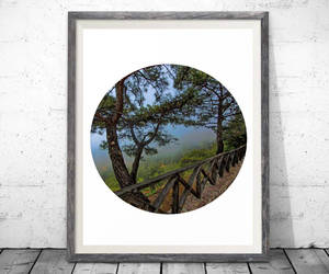 art, etsy, and mountain image