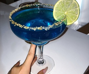 alkohol, drink, and blue image