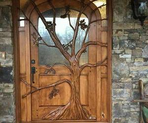 door, art, and tree image