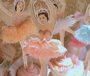 ballerina and cupcake image